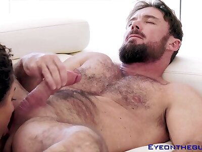 Justin Magnum gets his cock and balls sucked before fucking a coddle