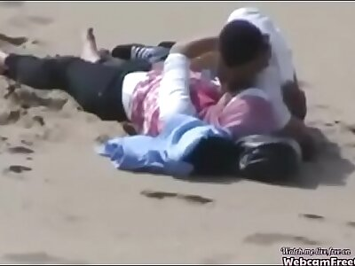 Arab Hijab Girl with Their way BF Caught Having Sexual relations on the