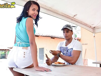 MAMACITAZ - Hot Latina Teen Dayana Cruz Rides Steadfast Cock Germane Explore Lunch